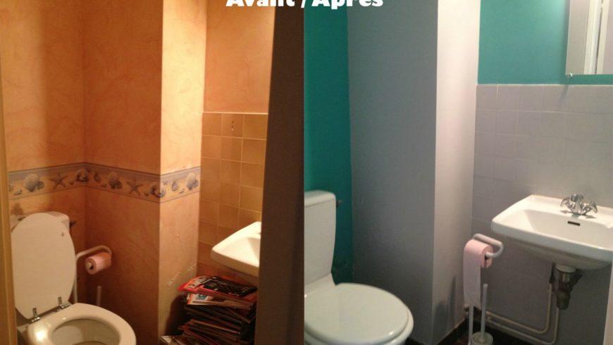 Relooking déco – avant / après WC
