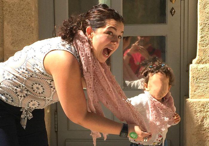 Duo de châle mère-fille