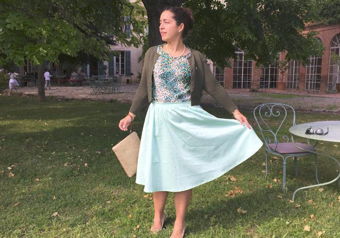 La jupe Betty mint