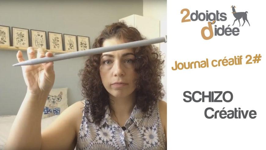 Journal créatif vidéo 2 : la schizo !
