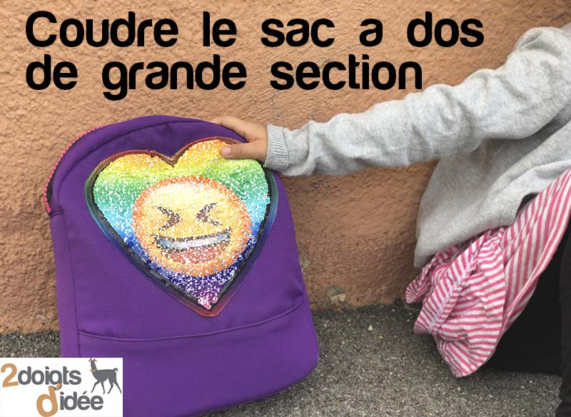 coudre le sac a dos de grande section
