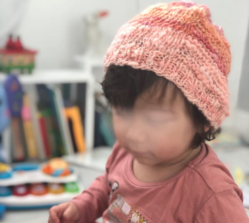 eleonor bonnet filé tricoté main