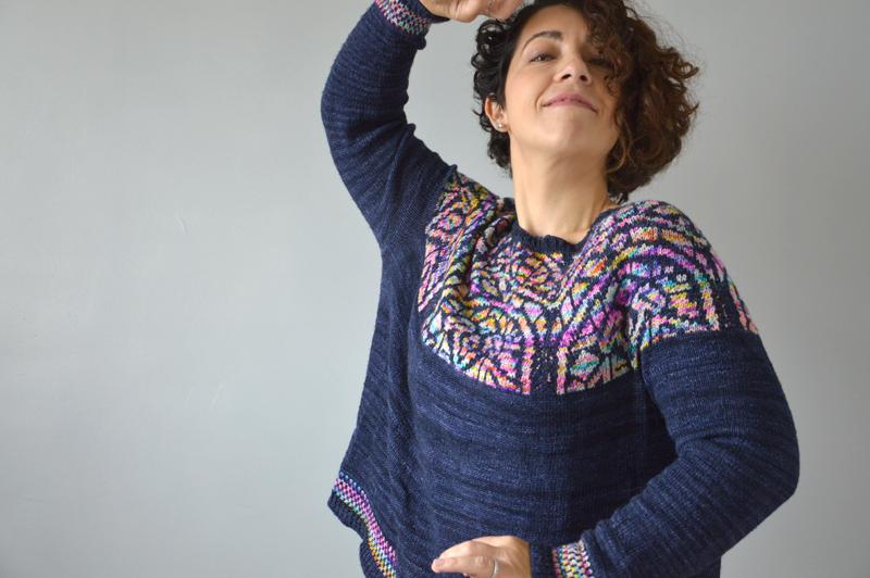 ajuster des manches tricot