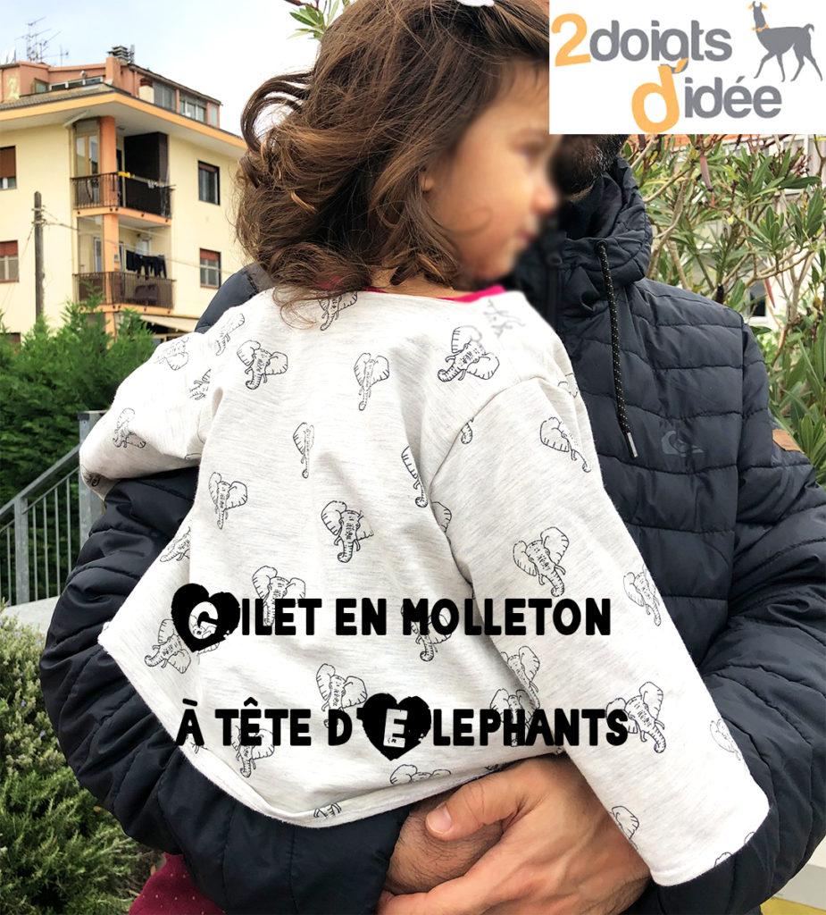 Gilet molleton
