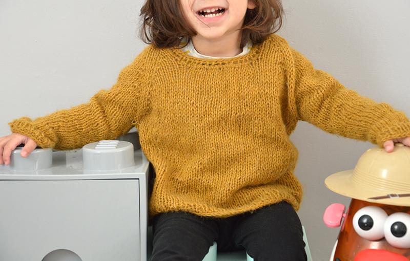 Pebbles Sweater : douceur moutarde