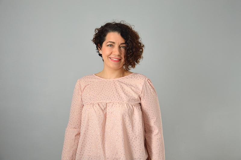 blouse panama patron simplifié