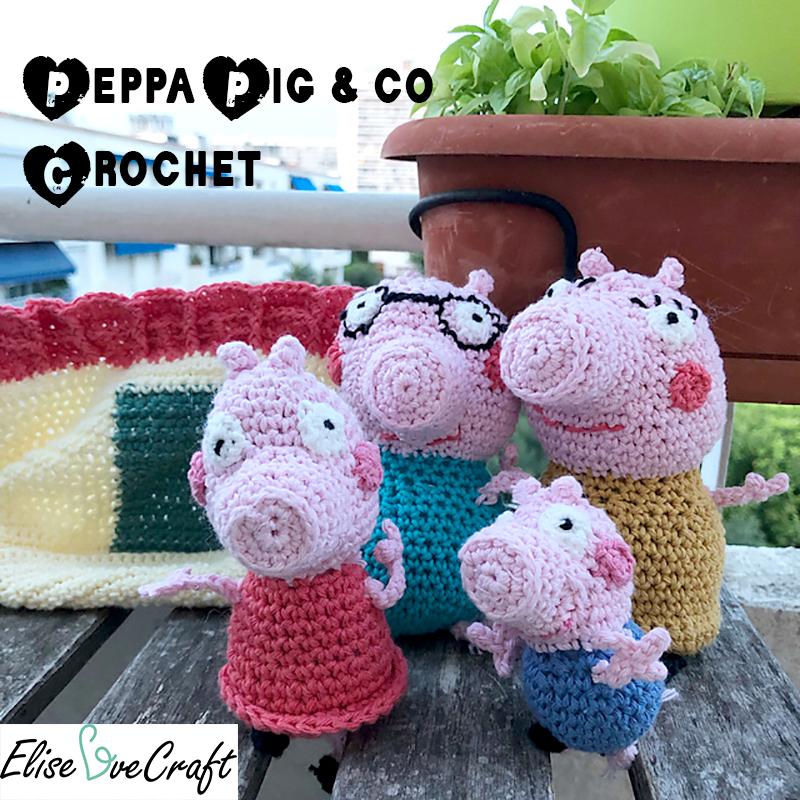 peppa pig au crochet