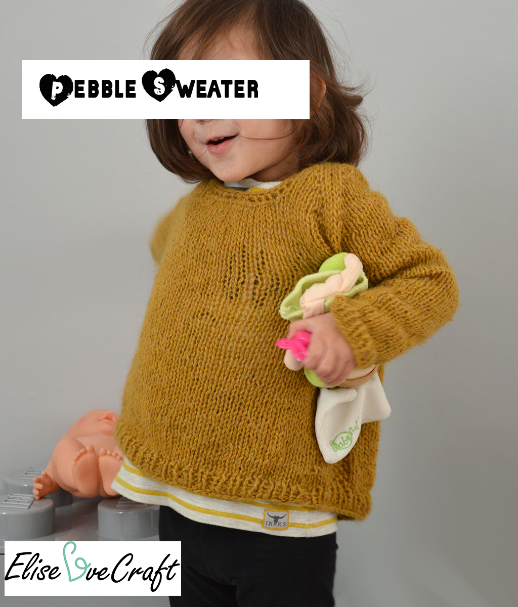 Pebbles sweater pin