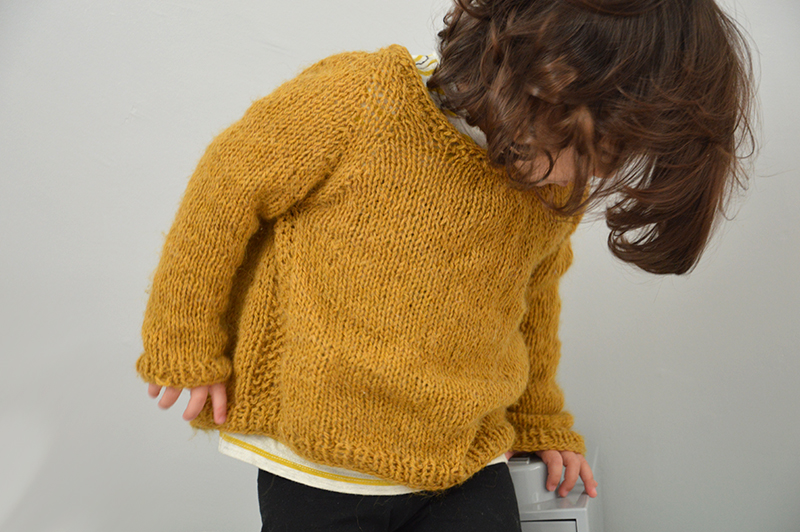 pull 36mois tricot maison