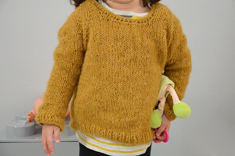 pull tricoté raglan details
