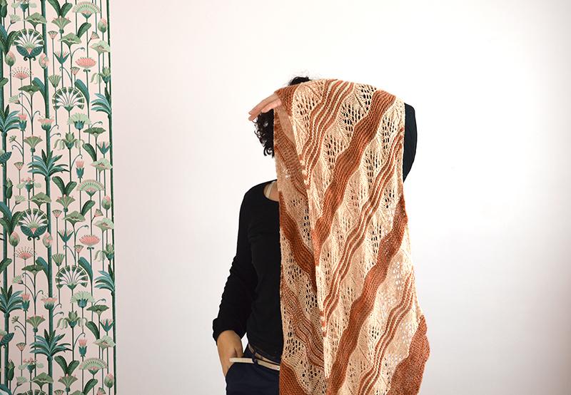 tricoter etole merinos