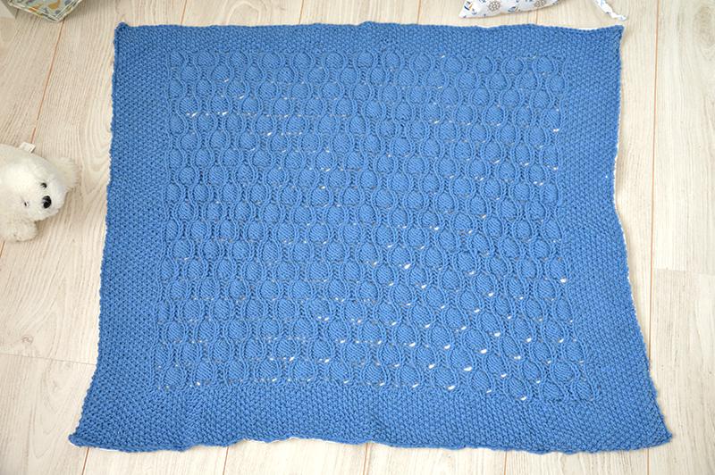 Couverture tricot  doublée