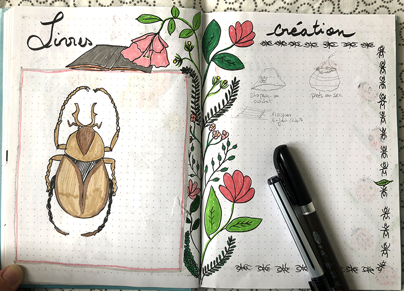 books trackers insects BuJo