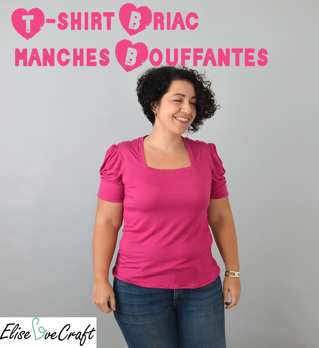 t-shirt Briac manches bouffantes Pin It