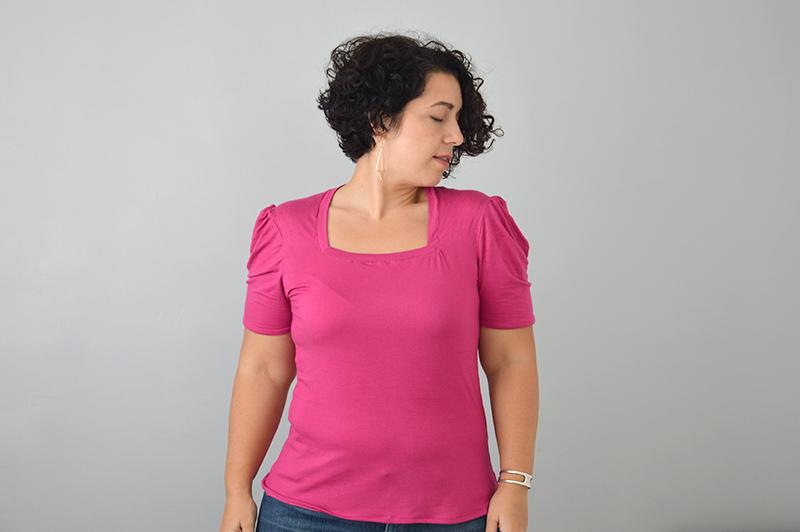 t-shirt Briac manches bouffantes
