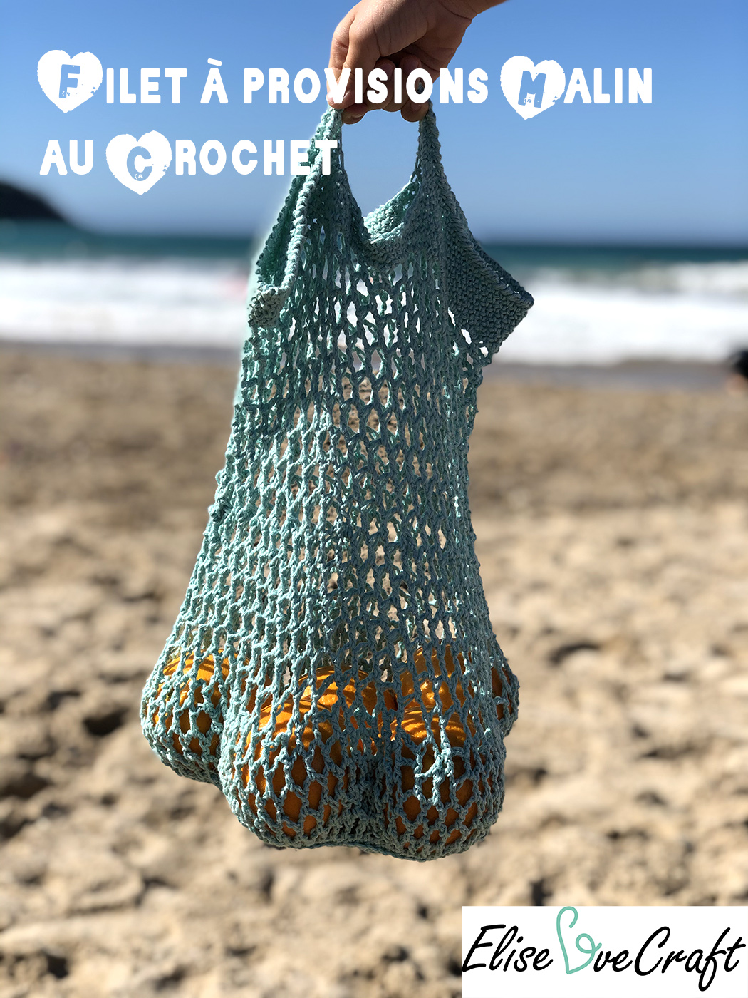 sac a provisions crochet PinIt