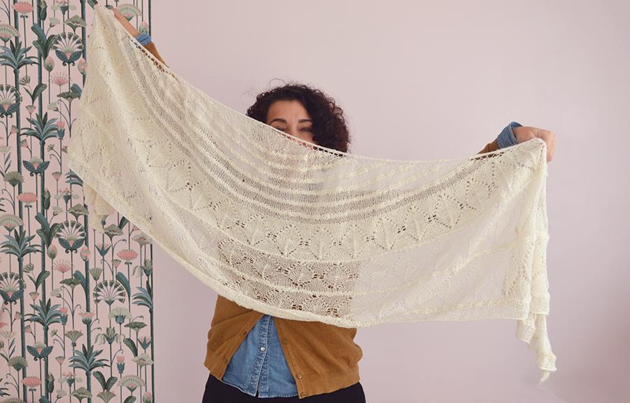 châle tricot rapide