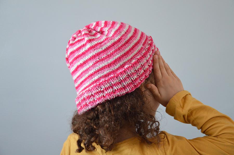 duo bonnets tricotés enfant