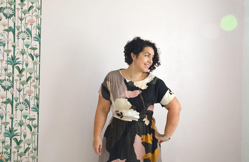 Une robe Dressed d'automne aux motifs seventies