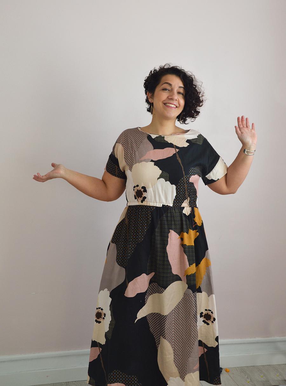 robe Dressed viscose fleurie
