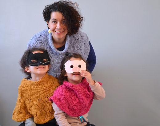 trio pelerines tricotees
