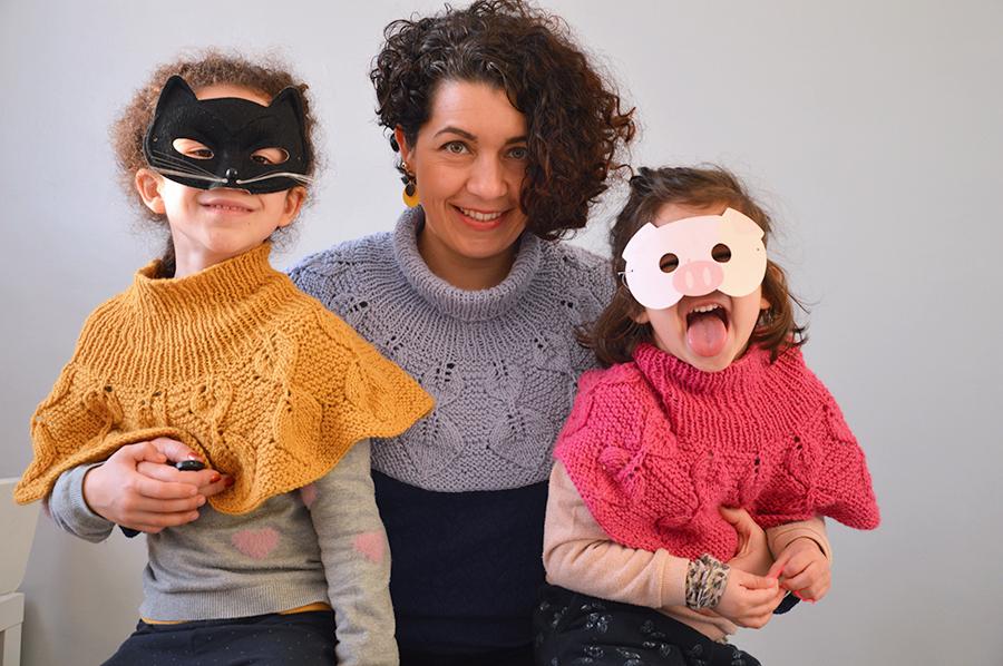 trio tricot mere filles