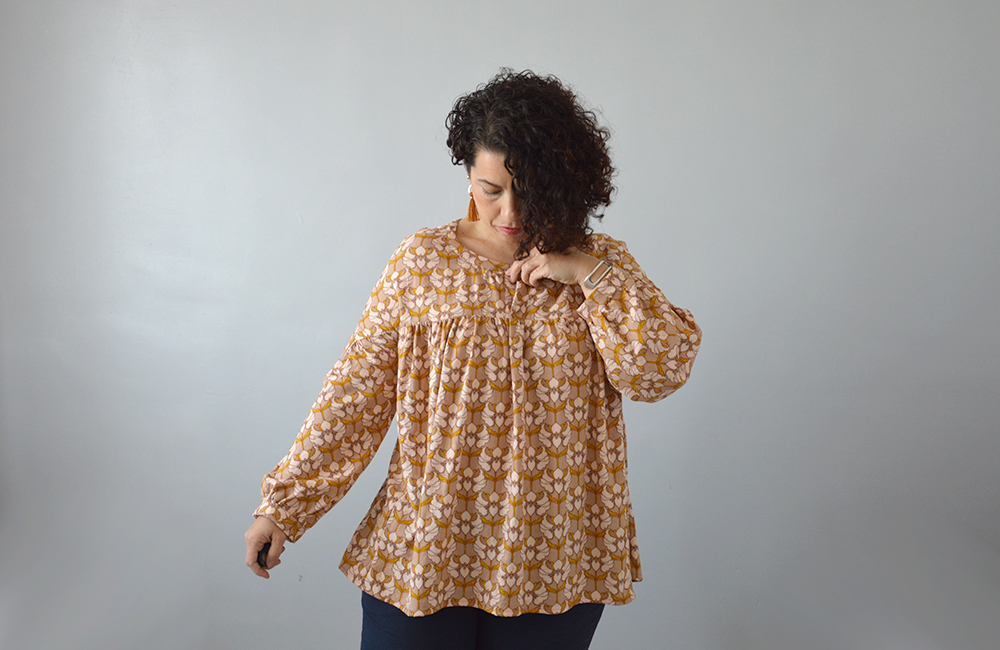 patte boutonage blouse Camille