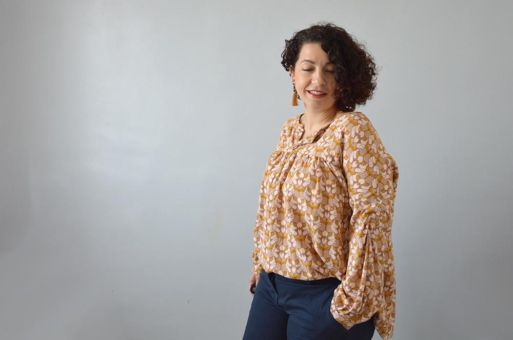 porter blouse camille