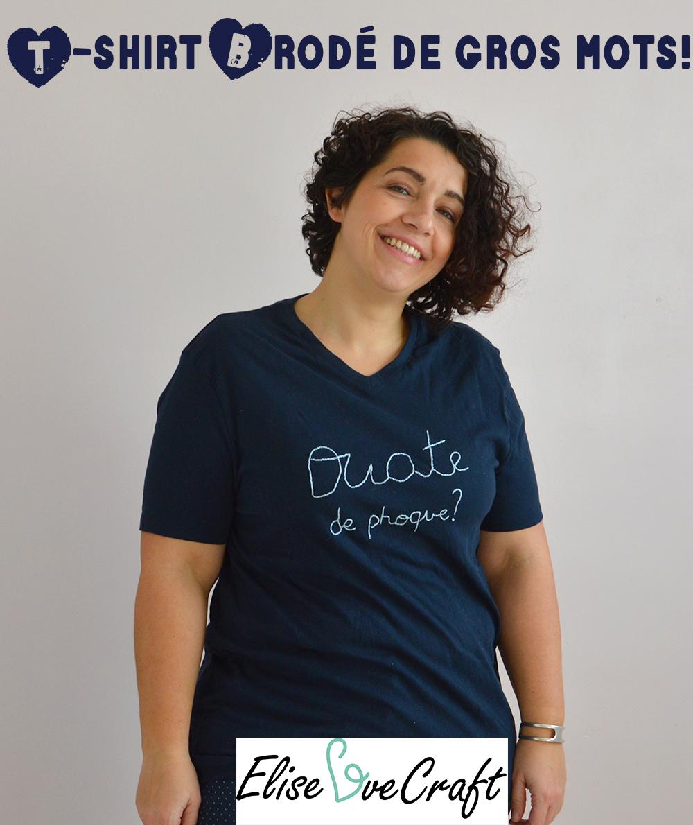 t-shirt brodé gros mots pin-it