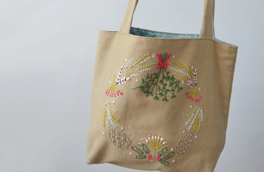 Un petit sac brodé  Chouette Kit x Julie  Jolis Songes