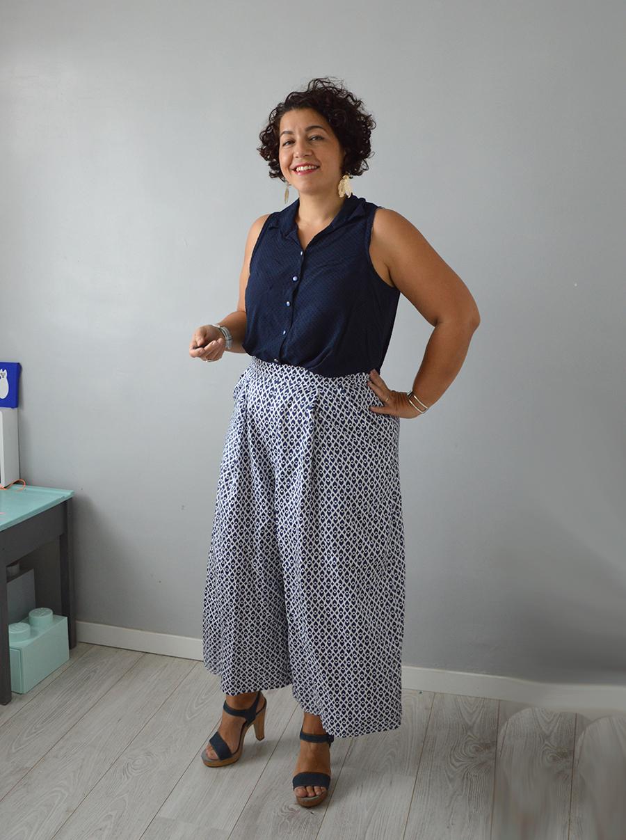 jupe-culotte Dressed bleue